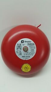 Simplex 24v Polarized And Suppression 2901 9720 Fire Alarm Bell