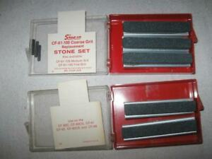Vintage Snap On Coarse Grit Replacement Stone Set Cf 61 100 For Cylinder Hone