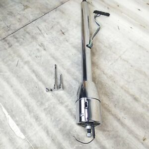 1960 66 Chevy Truck Chrome Tilt Steering Column Floor Shift Manual Swb C10 Gmc
