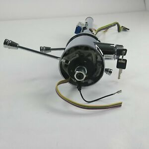 1978 1987 El Camino 33 Chrome Tilt Steering Column Keyed Floor Shift Gmc Gm