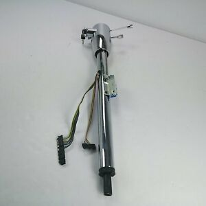 1955 1959 Chevy Truck 33 Chrome Tilt Steering Column Keyed Floor Shift Gm
