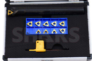 Shars 12 Pc 3 4 Un Internal Indexable Threading Tool Holder Inserts Set New