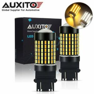 2x Auxito 3157 4157na Led Switchback Dual White Amber Signal Parking Led Bulbs A