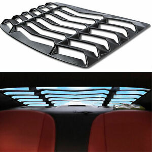 Rear Window Louvers Sun Shade Cover Black Fit 2010 2015 Chevy Camaro Replacement