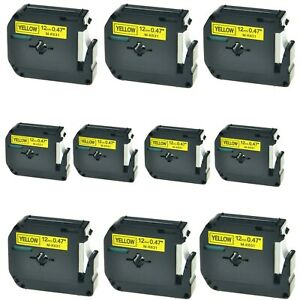 Us Stock 10pk M k631 Mk631 Black On Yellow Label Tape For Brother P touch 1 2