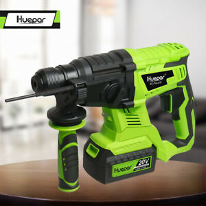 20v Brushless Cordless Sds plus Rotary Hammer Drill 3 Modes For Concrete Huepar