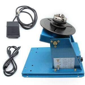 Rotary Welding Positioner Turntable 2 5 3 Jaw Lathe Chuck 10 Kg 2 10 Rpm
