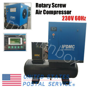 20hp Rotary Screw Air Compressor Air dryer with 130gallon Tank 230v 60hz Hpdmc