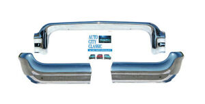 1958 Chevrolet Chevy Front Bumper 3 Pc Impala Bel Air Biscayne Del Ray