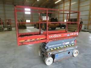 2012 Skyjack Sjiii3219 19 Electric Slab Scissor Lift Manlift Platform Lift
