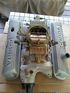 1965 1966 Mustang Shelby Gt350 Cobra Intake Carb V Covers Fastback 289 Hipo