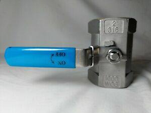 Stainless Steel Shut Off Valve 2 Inches 316 Wog 1000 Ball Valve Locking Handle