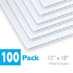 12 X 18 Blank White Coroplast Corrugated Plastic For Art Projects Signs