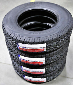 5 New Transeagle St Radial Ii St205 75r15 Load D 8 Ply Trailer Tires