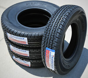 4 Tires Transeagle Ii Steel Belted St 225 75r15 Load E 10 Ply Heavy Duty Trailer