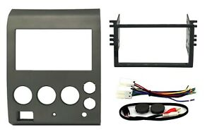 Radio Stereo Mount Install Double Din Dash Kit Bezel Wire Harness Fits Nissan
