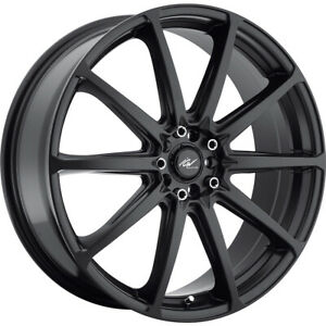 4 New 18x7 5 Icw Racing 215b Banshee Black Wheels Rims 42 5x100