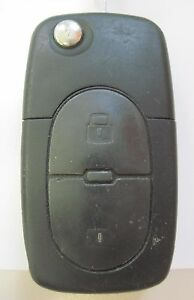 Flip Key Remote Controller For Vw Switchblade Keyless Uncut Key Phob Entry Oem