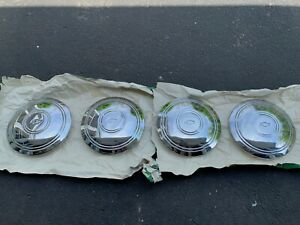 Chevy Bowtie Vintage 8 Dog Dish Hubcaps 60s 70s Ex Used Cond Free Ship