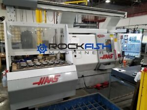 Haas Sl 20 With Auto Parts Loader Live Tool Tail Stock