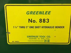 Greenlee 883 Electric Hydraulic Pipe Bender 1 1 4 To 4 Inch Slightly Used
