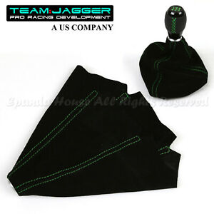 For Dodge Only Black Suede Leather Shift Boot Replace Green Stitched Usa Diy