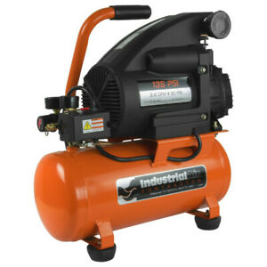 Industrial Air 3 Gal 135 Psi Oil lube Hotdog Air Compressor 1 5 Hp C032i New