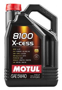 Motul 8100 X cess 5w 40 Synthetic Gasoline And Diesel Engine Oil 5 Liter Jug