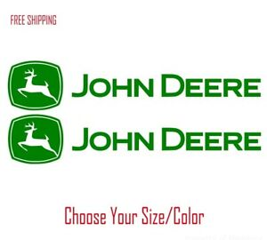 2 John Deere Vinyl Decal For Car Truck Tractor Window Sticker Heavy Farm Equip
