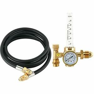 New Argon Co2 Tig Mig Flow Meter Welding Regulator Welder Gauge 6 6 Feet Hose