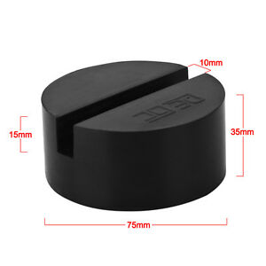 Slotted Rail Floor Jack Disk Rubber Pad Adapter For Pinch Weld Side Jackpad Dl5