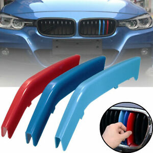 M Tri color Abs Insert Trim Front Kidney Grill For Bmw 3 Series M Sport F30 F31