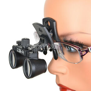 Clip Type 2 5x Dental Medical Binocular Loupes Optical Surgical Magnifier Dy 109