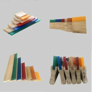 13 75 Durometer Screen Printing Wood Squeegee Blade 4pcs