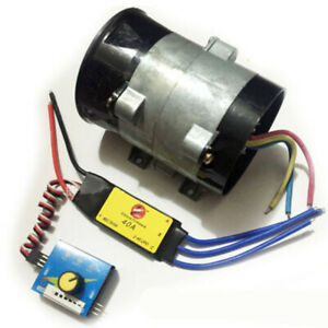 12v Car Electric Turbo Supercharger Air Intake Fan 16 5a Bold Lines With Esc 40a