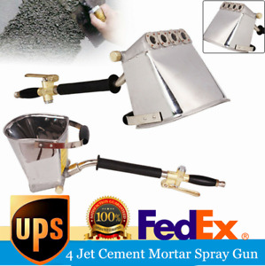 Air Stucco Cement Plaster Texture Hopper Sprayer Gun Wall Plastering Hand Set Us