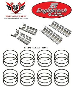 Enginetech Ford 289 302 5 0 Rod And Main Bearings With Piston Rings