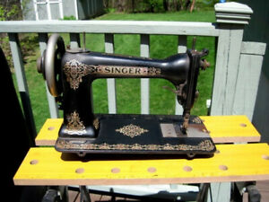 Beautiful Rare Antique Singer 9w D9 Sewing Machine Treadle Head Wheeler Wilson