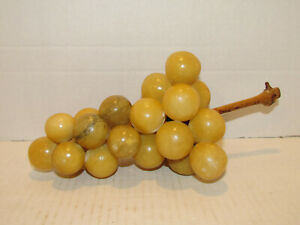 Antique Vintage Stone Alabaster Marble Bunch Of Grapes 10 Long Nr