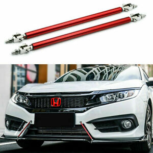8 11 Adjustable Front Bumper Lip Diffuser Splitter Support Bar For Honda Civic