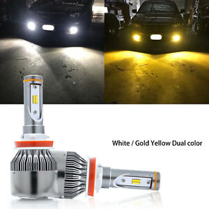 Hid White Gold Yellow Dual Color H11 H9 H8 High Low Headlight Fog Drl Led Bulb