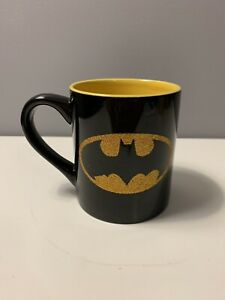 DC Comics Batman Coffee Mug Tea Cup 14oz Glitter Bat Signal Dark Knight Gotham