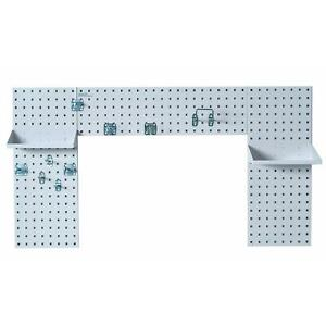 Locboard Laundry Room Pegboard Organizer Kit White Shelving Storage Space Nice