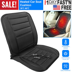12v Heated Auto Car Seat Cushion Cover Warmer Adjustable Temperature Controller