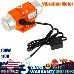 100w Vibration Motor Ac110v Industrial Single Phase Asynchronous Vibrator3600rpm