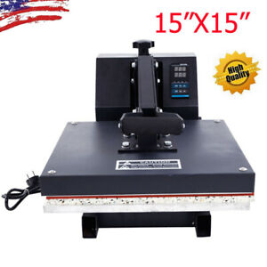 15 x15 Digital T shirt Heat Press Machine Transfer Sublimation Print For Diy