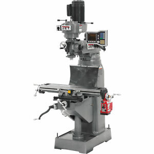 Jet Vertical Milling Machine 1 1 2 Hp 230 Volt jvm 836 1