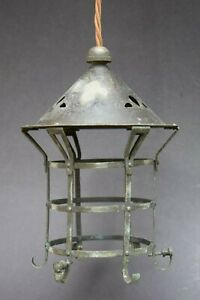 Reclaimed Arts Crafts Porch Lantern Old Vintage Light Lamp Hall Nouveau House