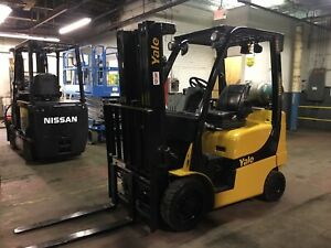 Yale 5000 Lb Forklift With Side Shift And Triple Mast