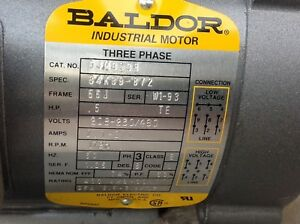 Cjm3538 1 2 Hp 1725 Rpm Baldor Electric Motor Free Shipping